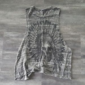 Grey Black Indian Melville Muscle Tank